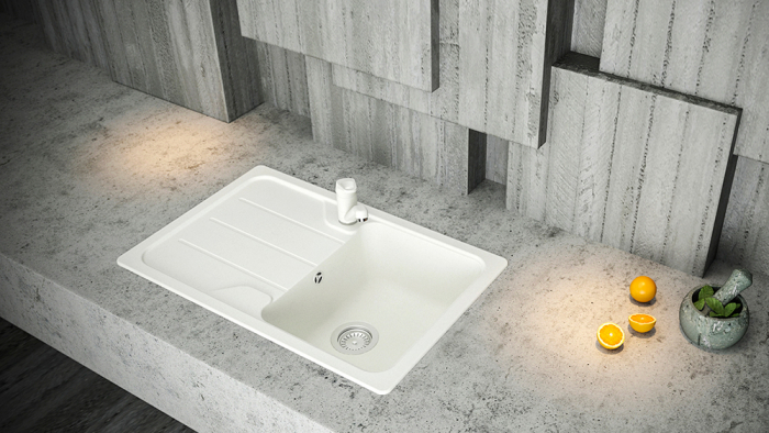 Chiuveta Granit Schock Formhaus D-100S Alpina Cristalite 780 x 500 mm [1]