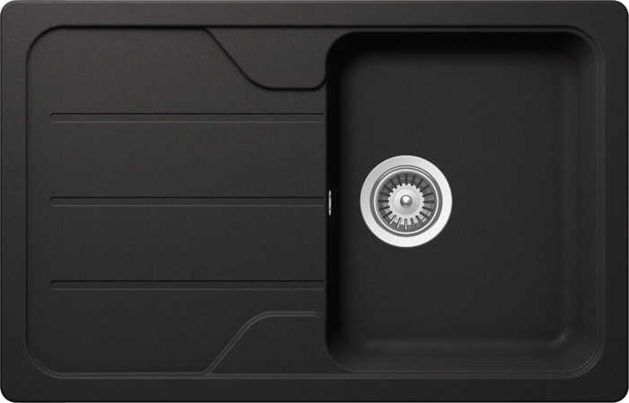 Chiuveta Granit Schock Formhaus D-100S Nero Cristalite 780 x 500 mm [0]