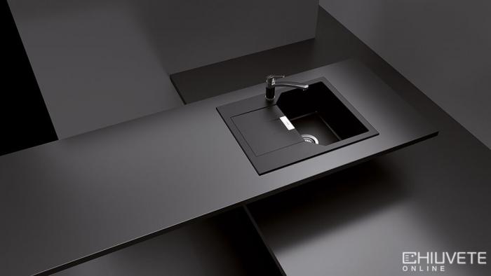 Chiuveta Granit Schock Manhattan D-100XS Nero Cristalite 640 x 510 mm [1]