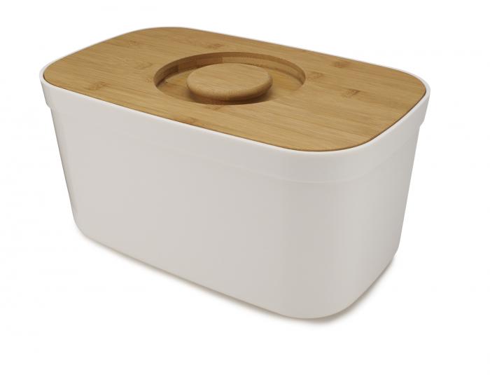 cutie Pentru Paine cu Capac Tocator Alb - Joseph&Joseph 4