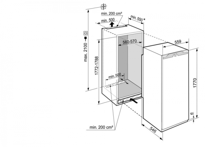 IRBdi 5150 Prime BioFresh Frigider încorporabil integrabil cu BioFresh [2]
