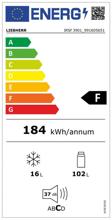 IRSf 3901 Pure Frigider încorporabil integrabil cu EasyFresh [1]