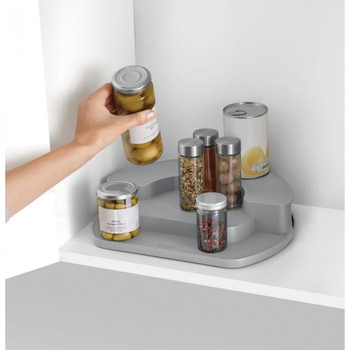 Organizator rotativ borcane & condimente Gri - Joseph&Joseph 0