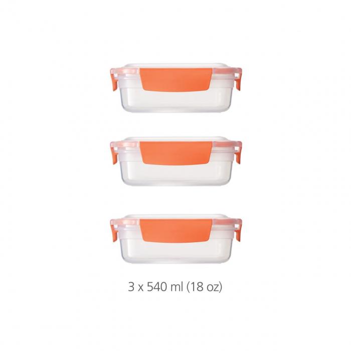 Set 3 cutii depozitare (3X540ml) Nest Lock Porto - Joseph&Joseph 0