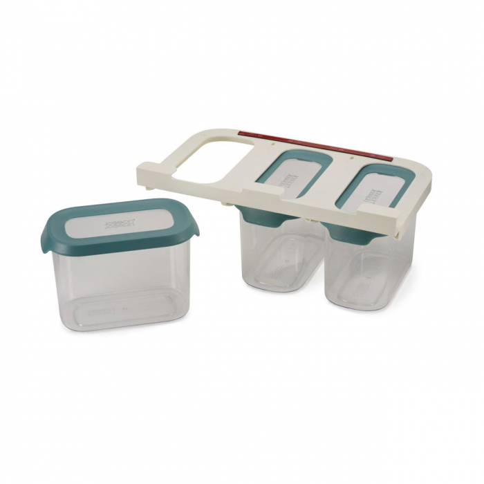 Set 3 cutii depozitare Dulap 3X1.3L Albastru - Joseph&Joseph 0