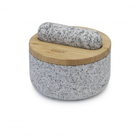 Mojar cu pistil granit si capac bambus - Joseph&Joseph6