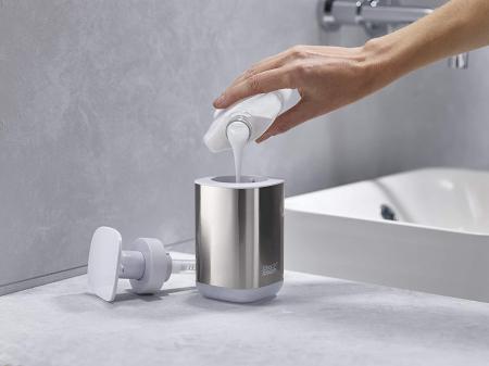 Set din 2 piese dispenser de săpun  și Caddy pentru periuță de dinți1