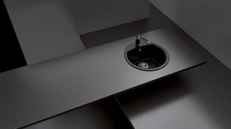 Chiuveta Granit Schock Manhattan R-100 Asphalt Cristalite 470 x 490 mm [2]