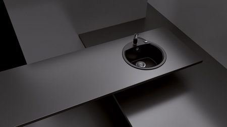 Chiuveta Granit Schock Manhattan R-100 Nero Cristalite 470 x 490 mm [2]