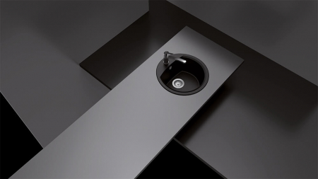 Chiuveta Granit Schock Manhattan R-100 Mocha Cristalite 470 x 490 mm [3]