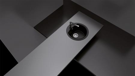 Chiuveta Granit Schock Manhattan R-100 Asphalt Cristalite 470 x 490 mm [3]