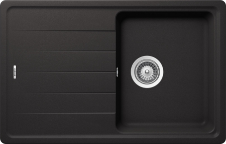Chiuveta Granit Schock Element D-100S Nero Cristalite 780 x 500 mm0