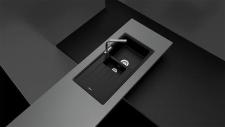 Chiuveta Granit Schock Element D-150 Nero Cristalite 1000 x 500 mm [1]