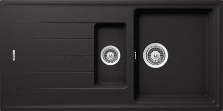Chiuveta Granit Schock Element D-150 Nero Cristalite 1000 x 500 mm [0]