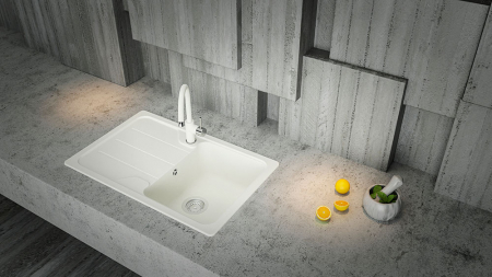 Chiuveta Granit Schock Formhaus D-100S Nero Cristalite 780 x 500 mm [2]