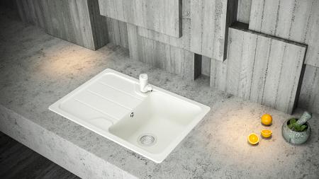 Chiuveta Granit Schock Formhaus D-100S Nero Cristalite 780 x 500 mm [1]