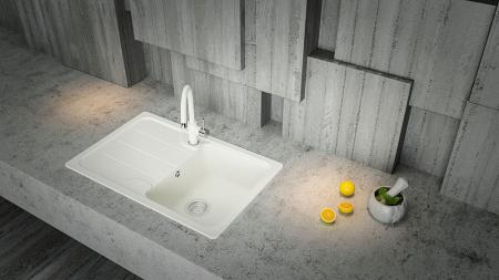 Chiuveta Granit Schock Formhaus D-100S Sabbia Cristalite 780 x 500 mm [2]