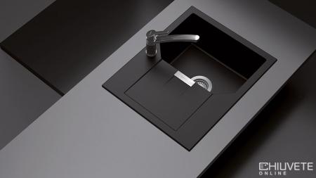Chiuveta Granit Schock Manhattan D-100XS Nero Cristalite 640 x 510 mm [2]