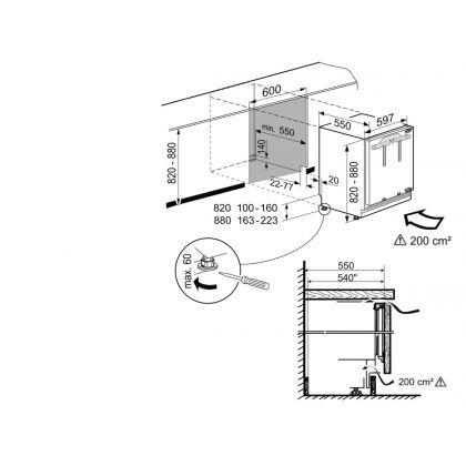 SUIG 1514 Comfort Congelator subîncorporabil integrabil [5]