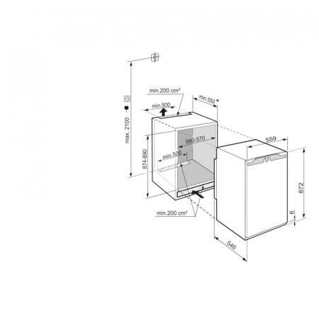 IRe 3921 Plus Frigider încorporabil integrabil cu EasyFresh [1]
