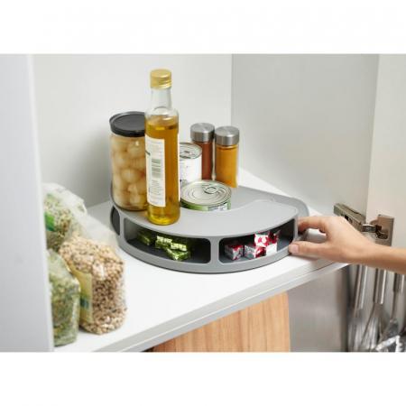 Organizator rotativ borcane & condimente Gri - Joseph&Joseph3