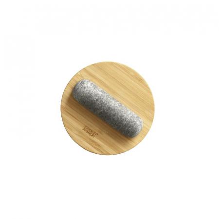 Mojar cu pistil granit si capac bambus - Joseph&Joseph4