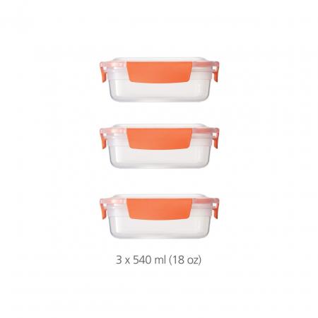 Set 3 cutii depozitare (3X540ml) Nest Lock Porto - Joseph&Joseph0