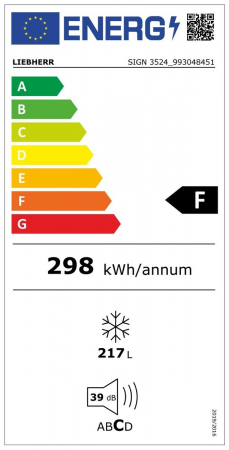 SIGN 3524 Comfort NoFrost Congelator încorporabil cu NoFrost [4]