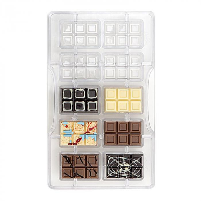 matrita-policarbonat-ciocolata-decor-tableta-mini-10-cavitati-ciocolaterie [0]