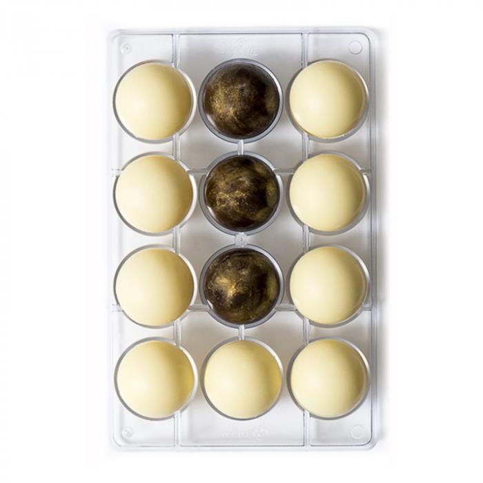 matrita-policarbonat-ciocolata-decor-semisfere-12-cavitati-ciocolaterie [0]