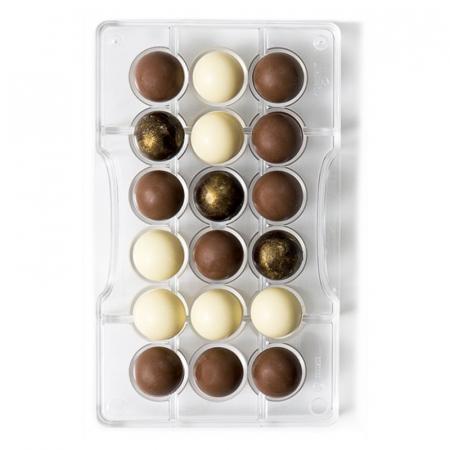 matrita-policarbonat-ciocolata-decor-semisfere-18-cavitati-ciocolaterie [0]