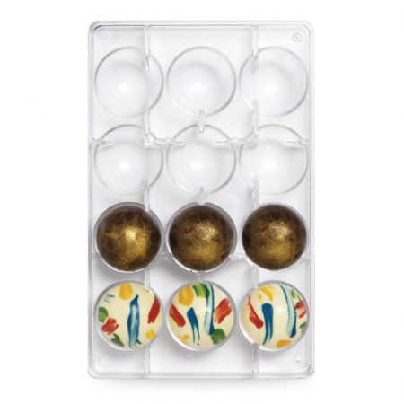 matrita-policarbonat-ciocolata-decor-semisfere-12-cavitati-ciocolaterie [1]
