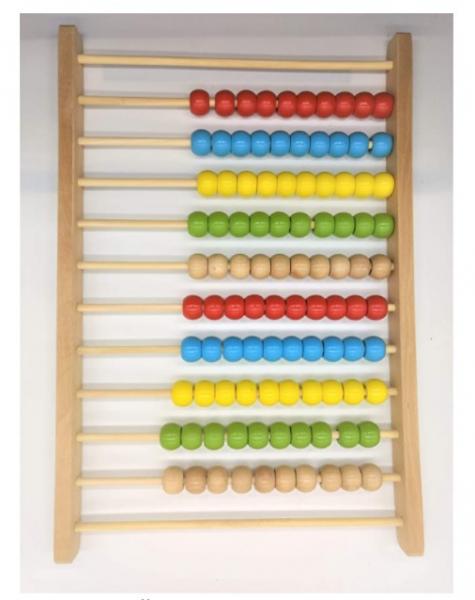 Numărătoare Montessori mare din lemn (60H x 30l x 4.19 cm) [1]