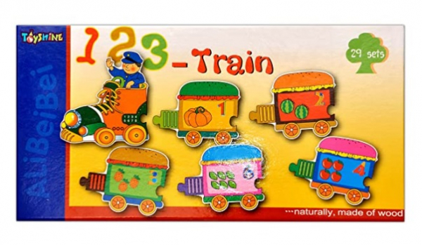Puzzle Trenuleț din lemn Cifre [1]