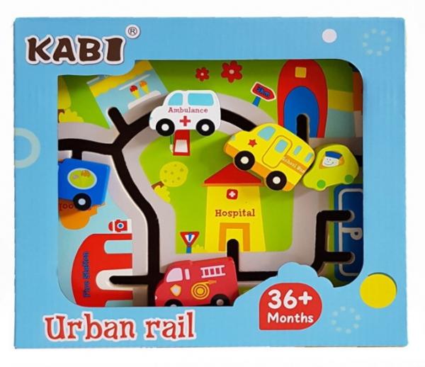 Joc lemn labirint 3D - Traseu urban [2]