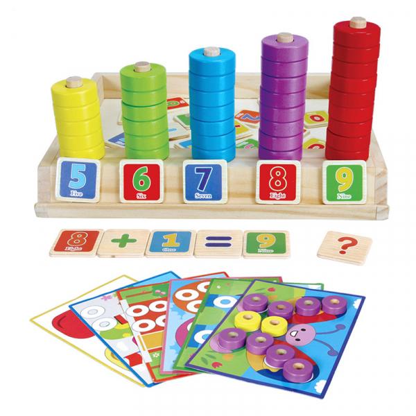 Joc educativ Numărătoare și Puzzle din lemn [0]