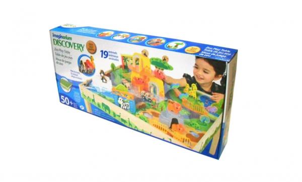 Masa de joacă, din lemn - Grădina zoologică [1]