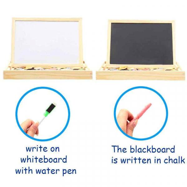 Tablita magnetica educativa, cu 3 functii: scriere cu creta, cu marker-ul și tabla magnetica [1]