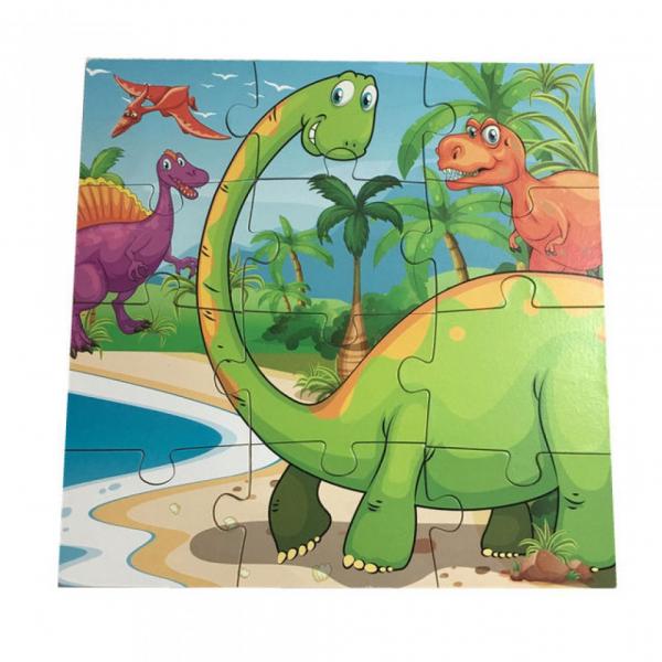 Puzzle din lemn 4 în 1 - Dinozauri [2]