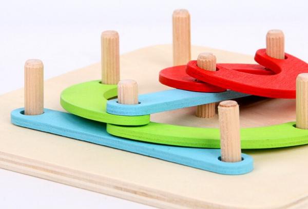 Placa Montessori Geoboard din lemn [1]