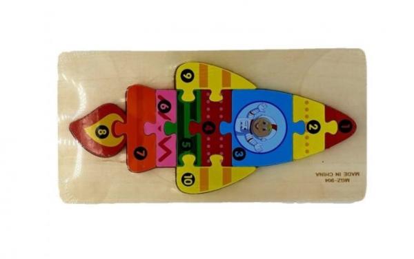 Puzzle din lemn Rachetă [1]
