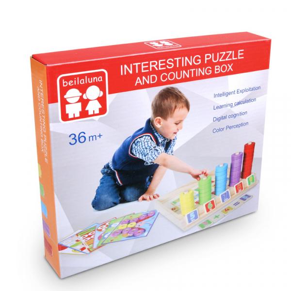 Joc educativ Numărătoare și Puzzle din lemn [1]
