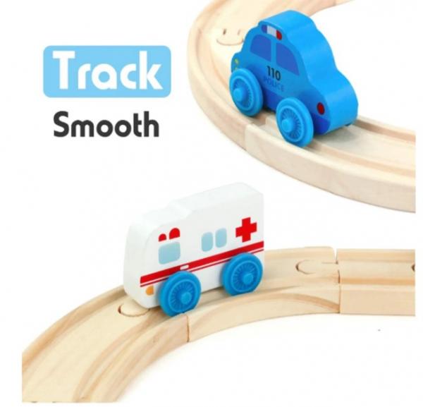 Set de șine din lemn - Trenuleț magnetic [1]