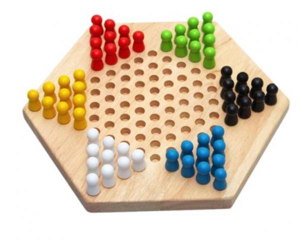 Șah chinezesc din lemn Checkers Game [0]