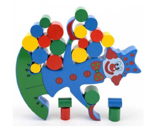 Jucărie din lemn Clovn-balanță [0]