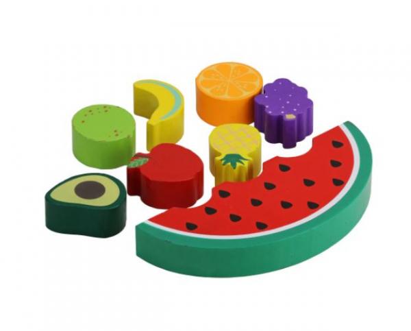 Joc de echilibru din lemn cu fructe [1]