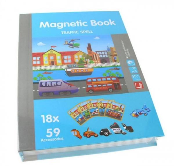 Carte magnetică cu piese puzzle - Mijloace de transport [0]