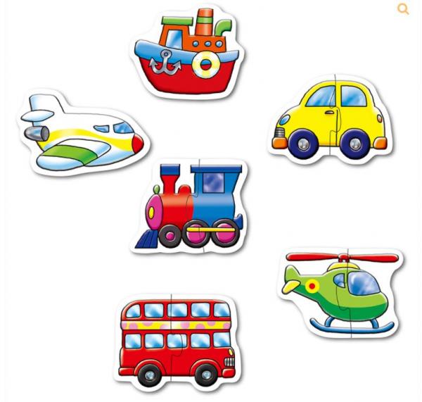 Puzzle mare 6 în 1 Mașini de salvare [1]