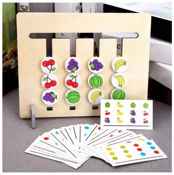 Joc Montessori de logică - Culori și fructe [1]