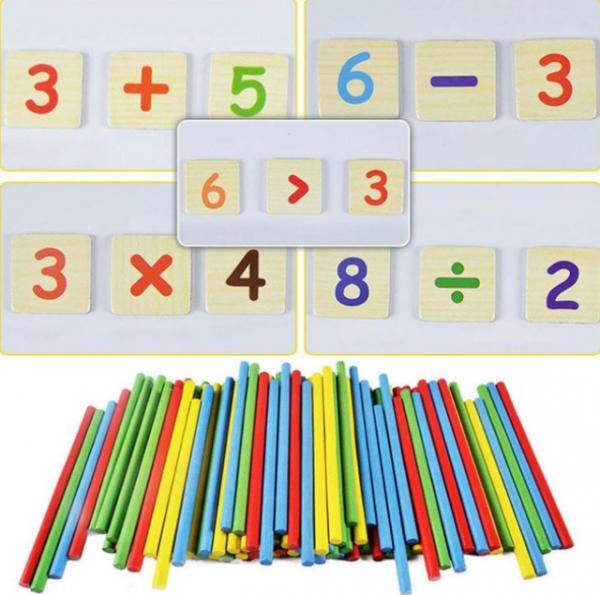 Tăbliță magnetică 4 în 1: Cifre și operații aritmetice, Puzzle magnetic, Ceas și whiteboard [2]